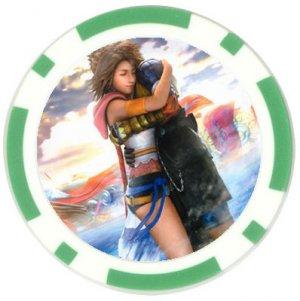 Yuna-Tidus--ffx/ff10--10 green Poker Chip Card Guards