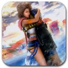 Yuna and Tidus hug--ffx/ff10-round rubber coaster