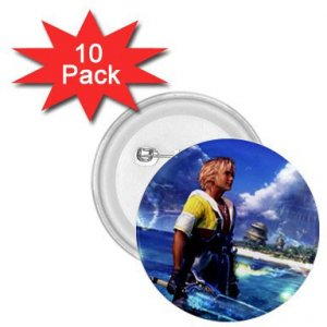 Warrior Tidus ffx/ff10--10-1.75 inch Buttons