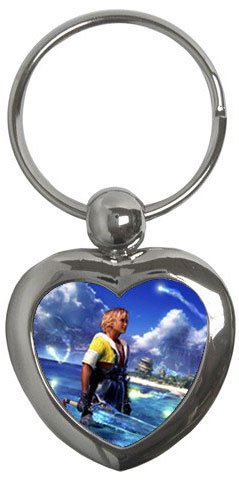Warrior Tidus ffx/ff10--heart shaped keychain
