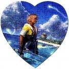 Warrior Tidus ffx/ff10--heart shaped Jigsaw Puzzle