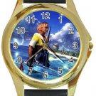 Warrior Tidus ffx/ff10--Round Gold Metal Watch