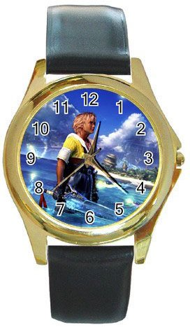 Warrior Tidus ffx/ff10--Round Gold Metal Watch
