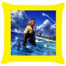 Warrior Tidus ffx/ff10--yellow Throw Pillow Case