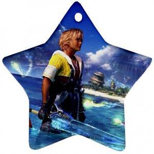 Warrior Tidus ffx/ff10--star shaped ornament