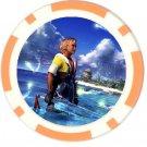 Warrior Tidus--ffx/ff10--orange Poker Chip Card Guard