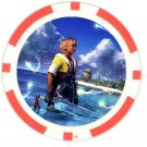 Warrior Tidus--ffx/ff10--10 red Poker Chip Card Guard