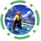 Warrior Tidus--ffx/ff10--10 green Poker Chip Card Guards