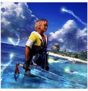 Warrior Tidus ffx/ff10--medium glasses cloth