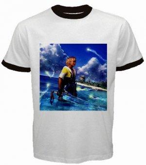 Warrior Tidus ffx/ff10--size medium ringer t shirt