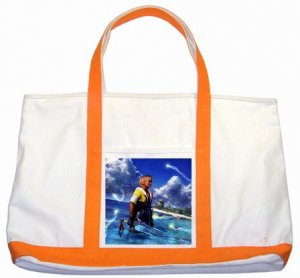 Warrior Tidus ffx/ff10--orange/white Two Tone Tote Bag