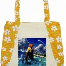Warrior Tidus ffx/ff10--Floral Tote Bag