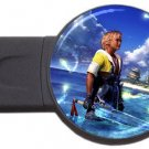 Warrior Tidus-ffx/ff10- round USB Flash Drive 4 GB