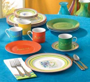 "Picasso ""Lines"" Porcelain Dinnerware Set"