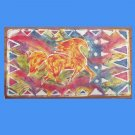 Trotting Horse Floor Cloth Floor Cloth or Table Topper