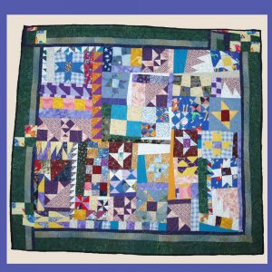"""""""Uncertainty of Measurement """" Physicist Wall Quilt 37""""x35"""""""