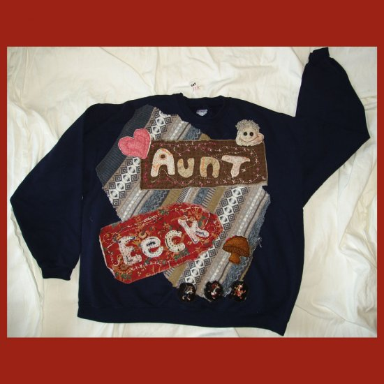 """Aunt Eeck"" Primitive Sweatshirt 2XL 684"