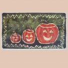 Pumkin Row batik floor cloth or table topper