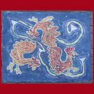 Pecking Order Batik Floor Cloth/Table Topper