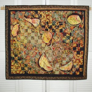 Leaves Wall Quilt, 40x45 inches