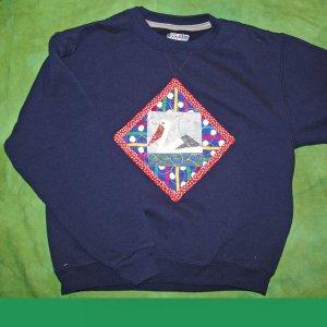 Navy Blue Pelican Quilt Sweatshirt Child M 8/10    668