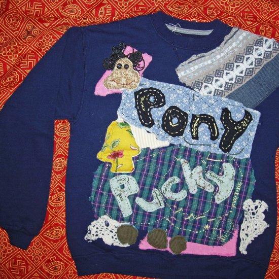 Pony Pucky Sweatshirt  child XL fits small adult 629