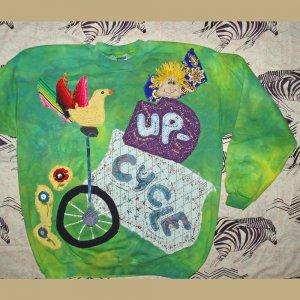 Up Cycle Primitive Sweatshirt with Bird Large 865