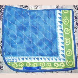 Blue and Spiral Batik Dressage Pad 872