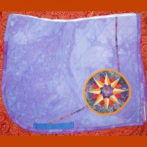 Purple Mariner's Compass Dressage Pad 821