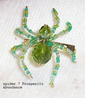 Prosperity abundance Law Of Attraction Spider Pin