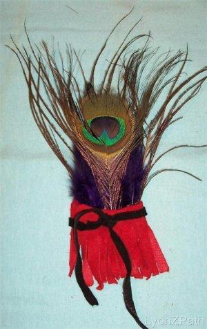 Peacock Feathers Joy Shaman Healing Smudge Fan