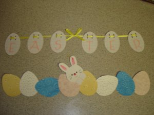 Easter Scrapbook Border Hand Made Craft Item