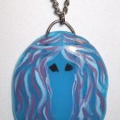 So Cute Fused Glass Afghan Hound Necklace