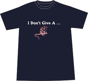 I Don't Give a Rat's Ass T-shirt - Navy LARGE