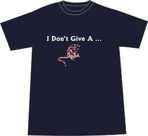 I Don't Give a Rat's Ass T-shirt - Navy MEDIUM