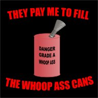 Fill the Whoopass Cans T-shirt LARGE Black