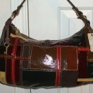 NWT  *NWT FOSSIL PATCHWORK LEATHER HANDBAG/PURSE*SR $178*