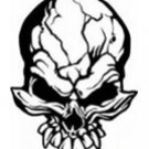 Skull Vinyl Auto Car Truck Window Decal Sticker #sku-001