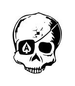 Skull Vinyl Auto Car Truck Window Decal Sticker #sku-005