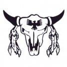 Southwestern Indian Cattle Skull Vinyl Auto Car Truck Window Decal Sticker #sku-010