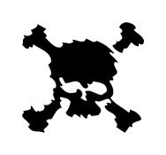 Blurry Effect Skull And Crossed Bones Vinyl Auto Car Truck Window Decal Sticker #sku-013