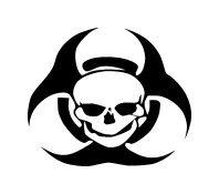 Biohazard Skull Logo Vinyl Car Truck Auto Window Decal Sticker #sku-014