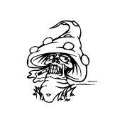 Fantasy Mushroom Skull Vinyl Auto Car Truck Window Decal Sticker #sku-017