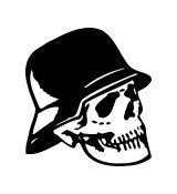 Nazi Soldier Skull Vinyl Auto Car Truck Window Decal Sticker #sku-020