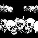 Multiple Skulls Window Decal Sticker Kit #sku-022