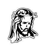 Jesus Portrait Window Decal Sticker #jesus001