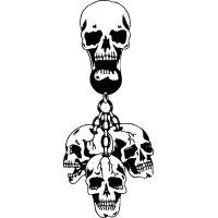 Hanging Skulls Vinyl Window Graphic Decal sku-029