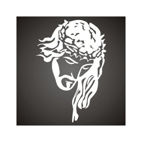 Christian Decals : Jesus with Crown of Thorns - Vinyl Graphic Sticker - jesus002