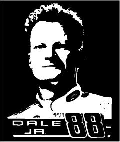 "6"" Dale Earnhardt Jr 88 Vinyl Portrait Window Decal"