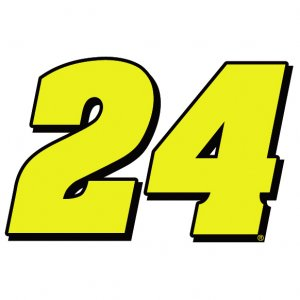 "6"" Jeff Gordon Number 24 Vinyl Window Decal Sticker"